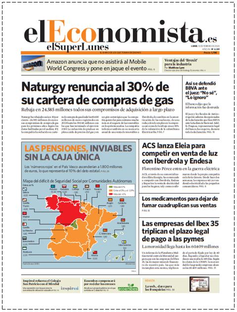 EL SUPERLUNES. Edición completa del diario El Economista del 10 de Febrero 2020.