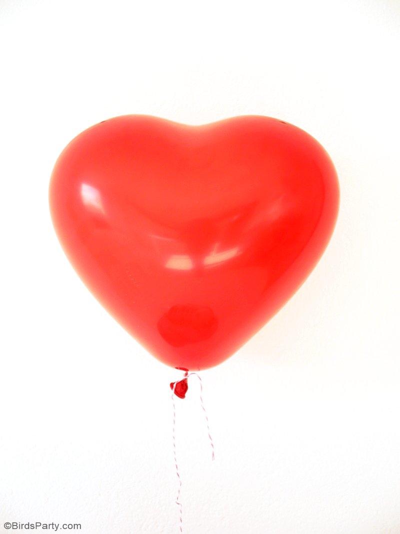 DIY Carte Ballon pour la Saint Valentin avec Freebies - idée facile et rapide pour un cadeaux amusant ou pour dresser une table romantique! | BirdsParty.fr