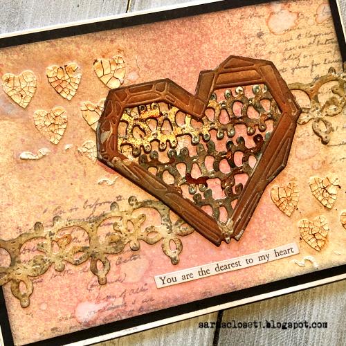 Sara Emily Barker https://sarascloset1.blogspot.com/ Tim Holtz Sizzix Geo Frames Crochet 2 Valentine Card Set Tutorial 9