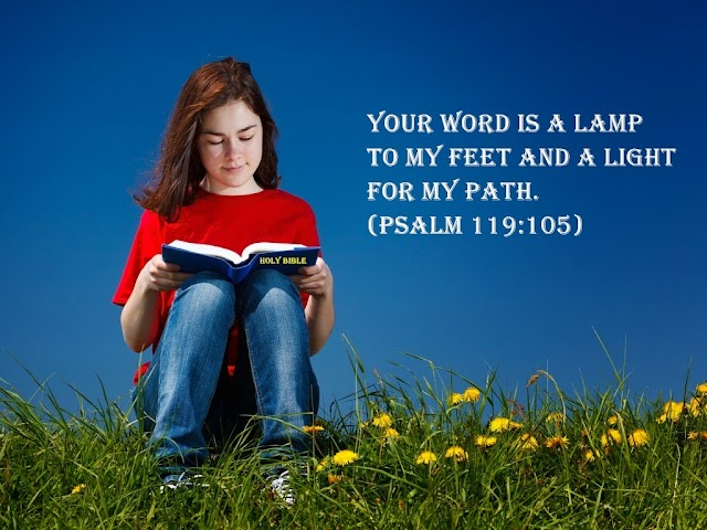 Gods word is a lamp to my fee and light for my path