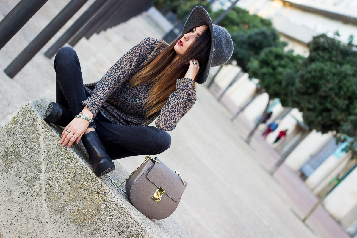 animal print sweater zara