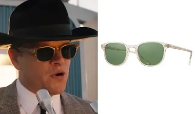 Matt Damon as Carroll Shelby wearing possibly Oliver Peoples Sunglasses in Ford v Ferrari