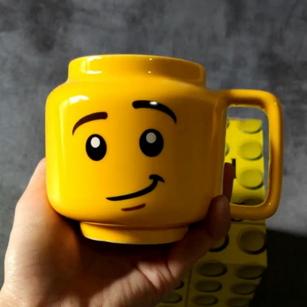 Cute smiley Q Styles large capacity Water cup for gifts