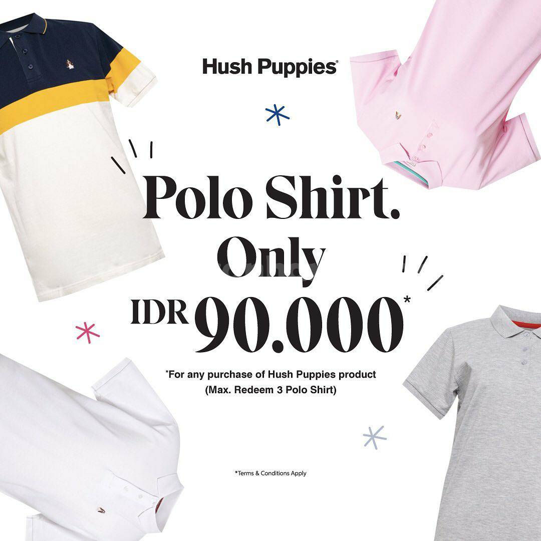 Hush Puppies Promo Polo shirt collection for only IDR 90.000