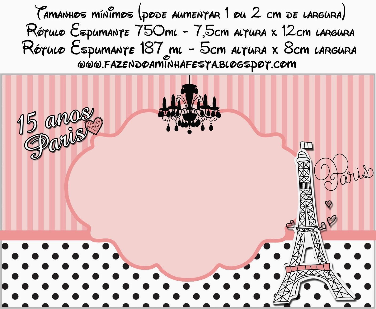 15 Años París: Etiquetas Gratis para Candy Bar. | Ideas y material ...