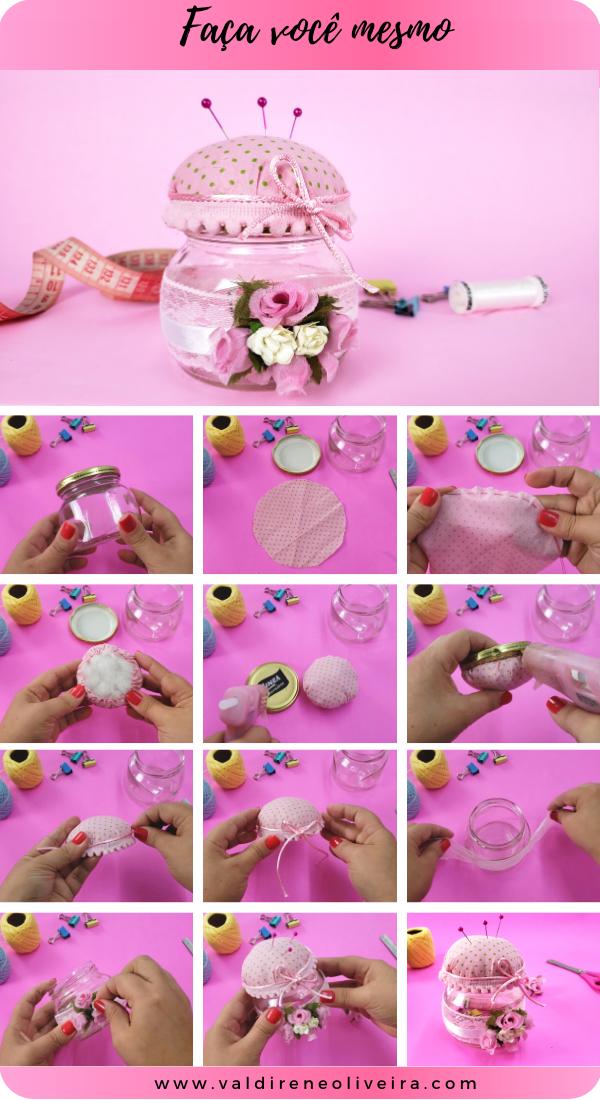 como reciclar pote de vidro vazio