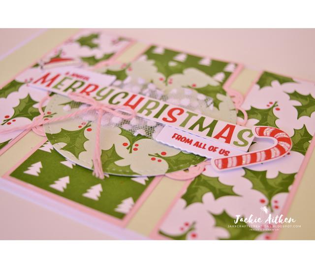 Jaxx Crafty Creations, Stampin' Up!, Stitched Labels Framelits, Santa's Workshop Memories & More Card Pack