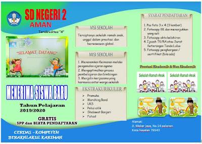 contoh brosur PPDB
