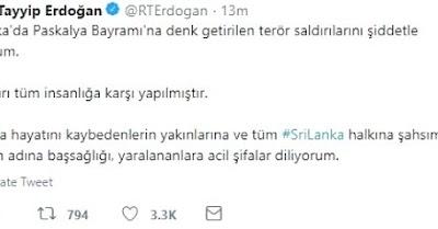 Başkan Erdoğan saldırıya kınadı