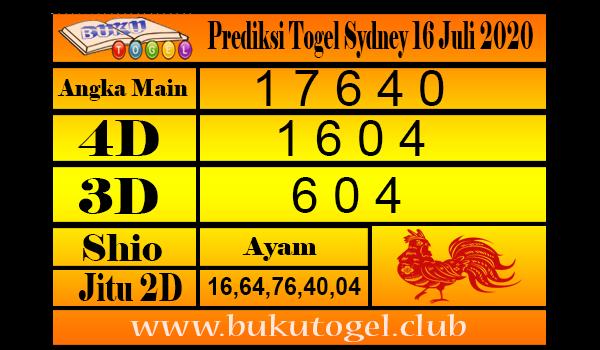 Prediksi Togel Sydney Kamis 16 Juli 2020
