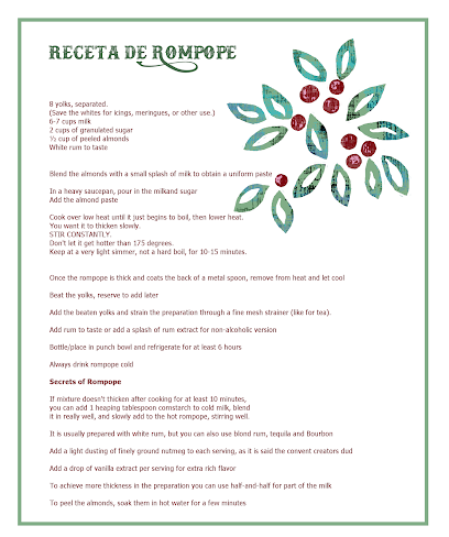 Mexican Eggnog, rompope recipe receta