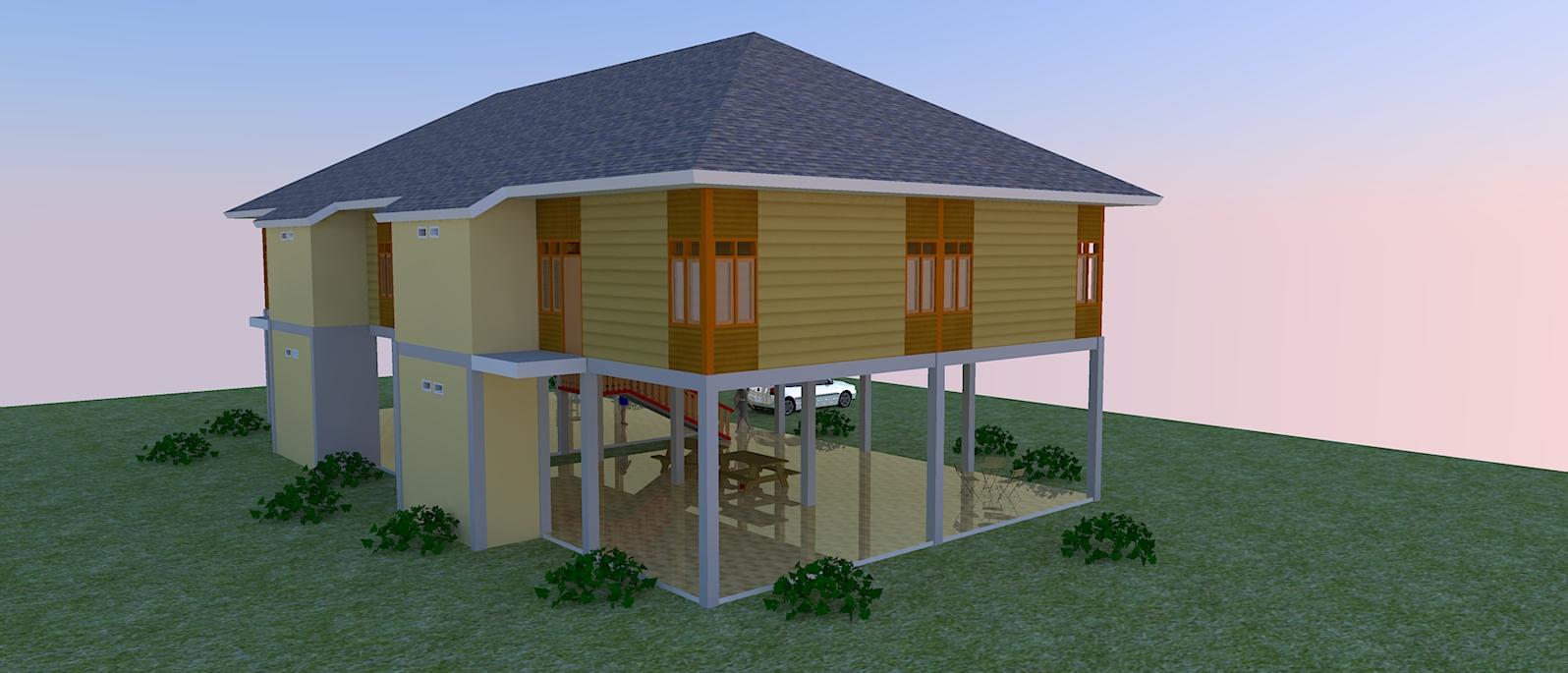104 Gambar Rumah Minimalis Kayu Sederhana Gambar Desain
