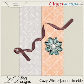 Creative Team for LDrag Designs -   Cozy Winter and Coordinating Freebie