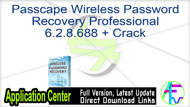 Passcape Wireless Password Recovery Professional 6.2.8.688 + Crack
