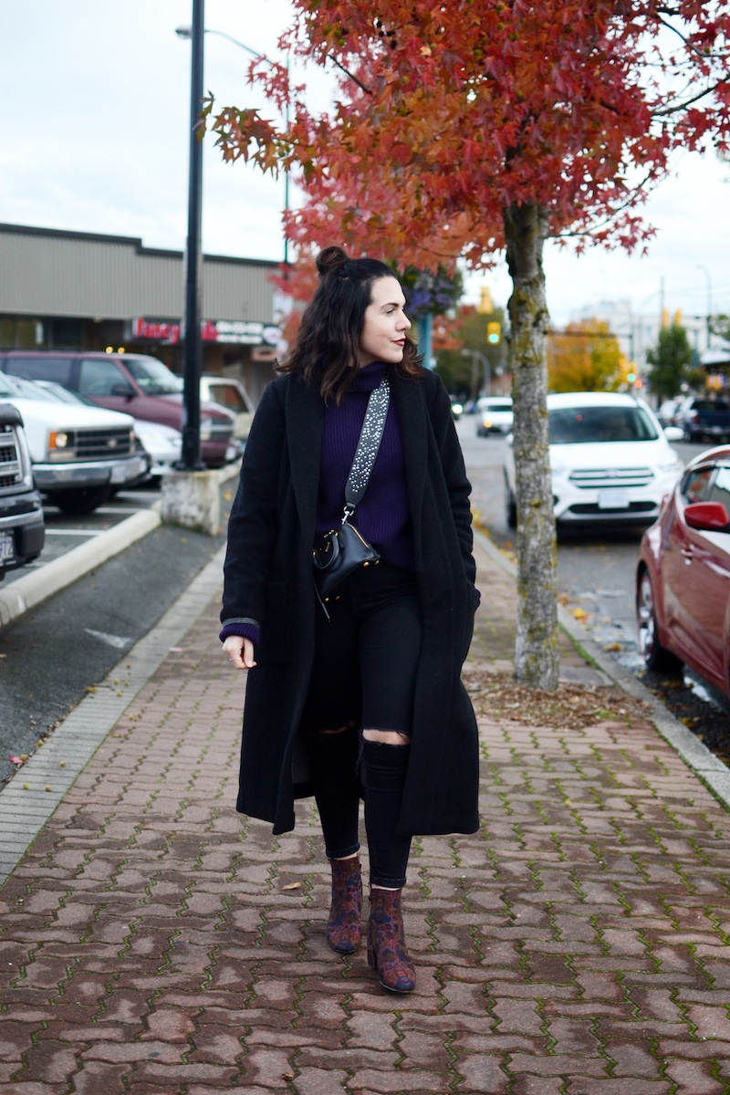 Aldo Sully boots Aritzia wool coat topshop jaime jeans cute winter outfit vancouver fashion blogger