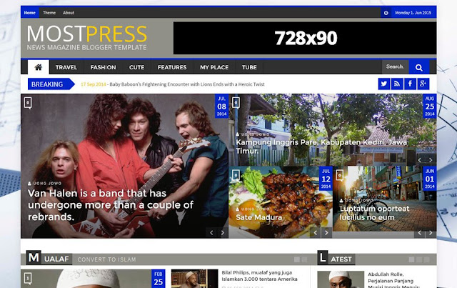 Most Press Responsive Blogger Template