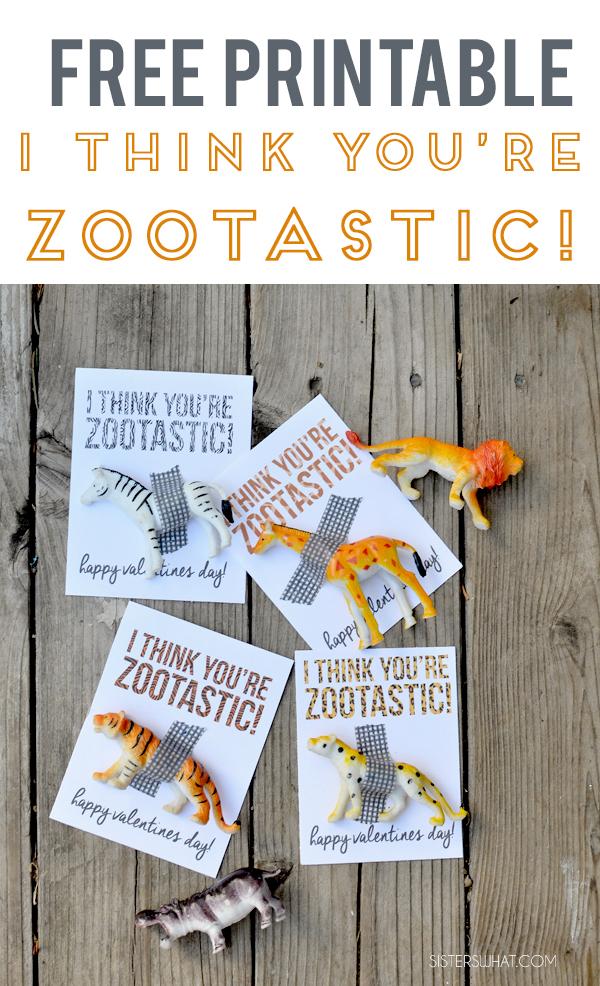 DIY zoo valentine printables kids