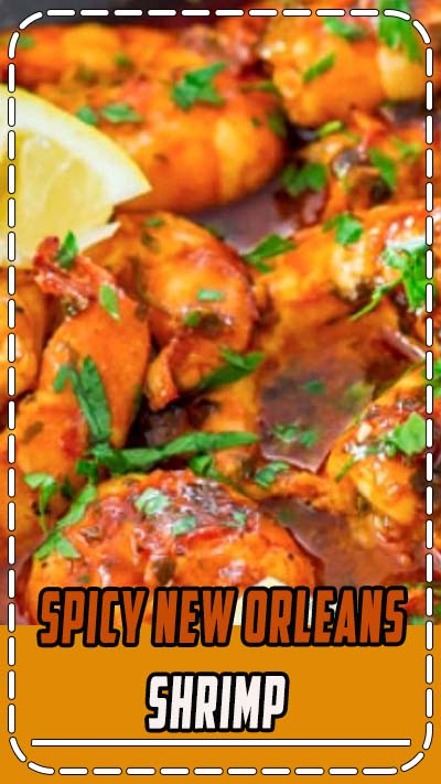 Spicy New Orleans Shrimp Recipe ~ hot and spicy, decadent and savory