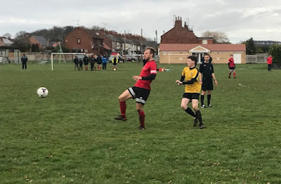 Football action from the sem-final between Barnetby United and Epworth Town Colts Blues  on Saturday, January 26, 2019 - see Nigel Fisher's Brigg Blog