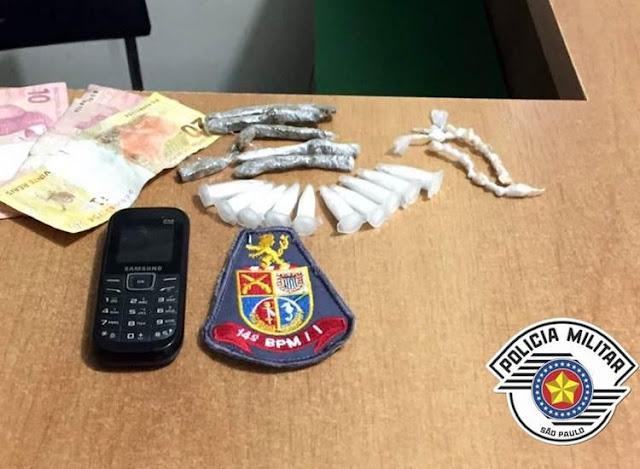 Polícia Militar prende casal por tráfico de drogas no Arapongal em Registro-SP