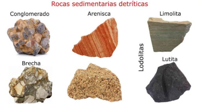 Las rocas sedimentarias clásticas o detríticas son todas aquellas formadas por granos (clastos o detritos) que se han formado por acción de la meteorización física y erosión de cualquier tipo de preexistente (ígnea, sedimentaria y/o metamórfica)