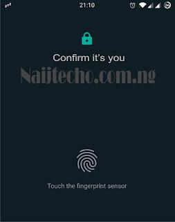 Whatsapp Biometric Authentication