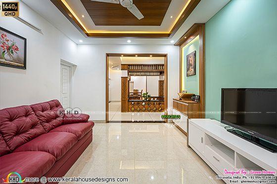 Family living interior photograph