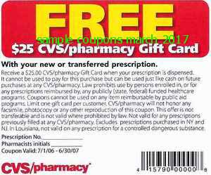 free Cvs Pharmacy coupons march 2017