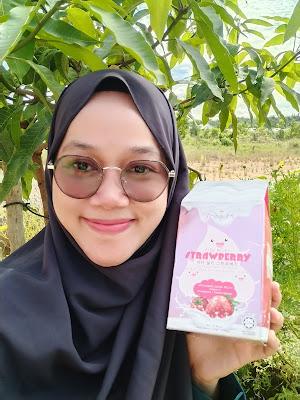 foto dengan box shinjumi vita milky strawberry