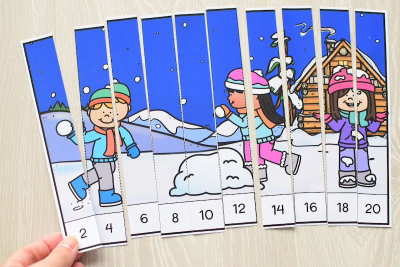 Winter Theme Learning Pack: Number Puzzles