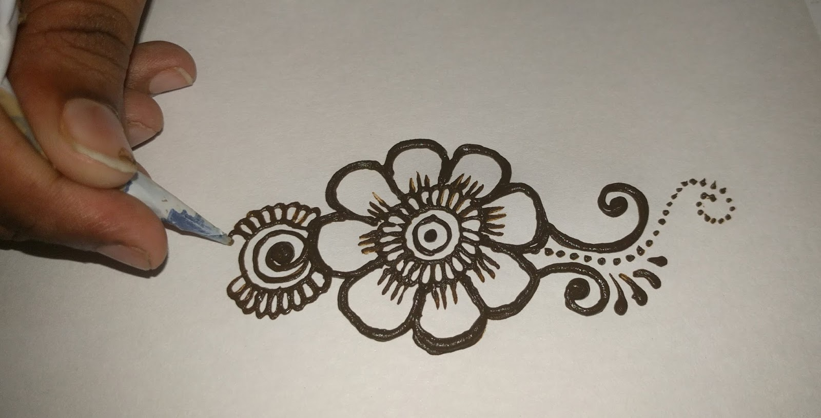 Mehndi Step By Step Designs : Mehndi designs step by for hands easy images