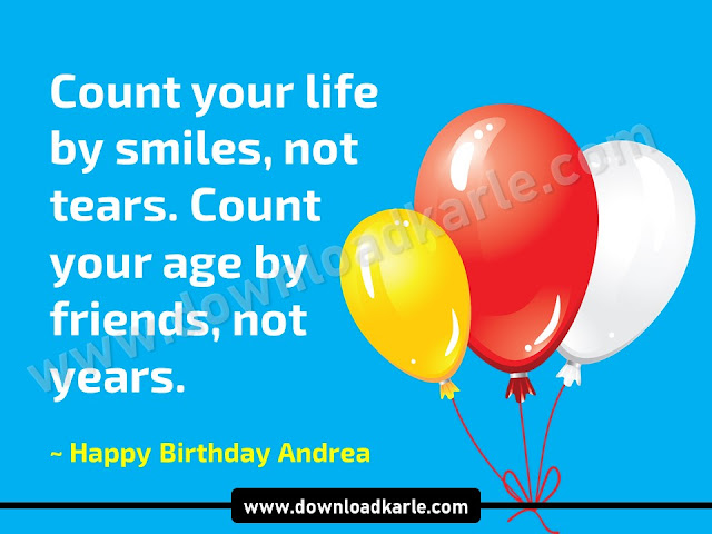 Download Happy Birthday Andrea Images, Memes & Cake. Images, meme, memes, cake, gif, bocelli, funny, song, happy 50th birthday andrea, happy 40th birthday andrea, cake images, flowers and pictures.