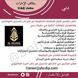Al Yalayis Government Transactions Center careers