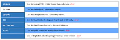 cara membuat sitemap blogspot blogger