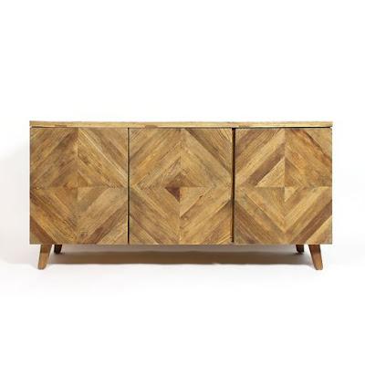 Buffet bois massif scandinave chevrons made-in-meubles.com