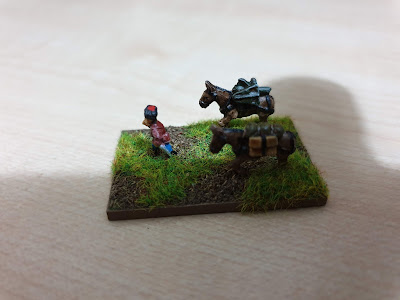 Pendraken Miniatures NW12 Pack mule team with maxim gun picture 1