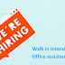 Walk in interview for Office assistant cum sales  Dubai