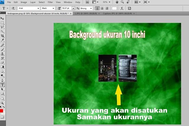 Menggabungkan 2 Foto Menjadi Ukuran 10 Inchi | Photoshop