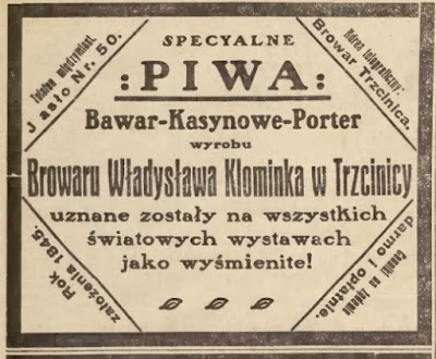 piwo Trzcinica browar 1913