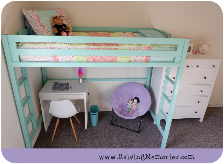 Shared Teen Girls Room Turquoise