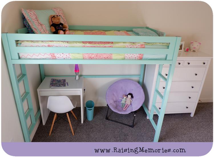 Shared Teen Girls Room Turquoise