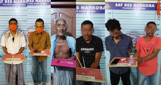 Polres Aceh Utara Ungkap 6 Kasus Narkoba Selama Dua Pekan Ramadhan
