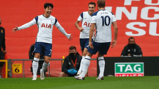 Tottenham hotspurs players photo vs Leeds