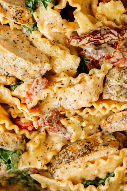 One Pot Tuscan Chicken Pasta Recipe
