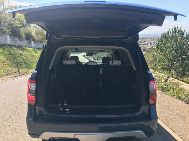Tailgate open on 2020 Ford Expedition Platinum