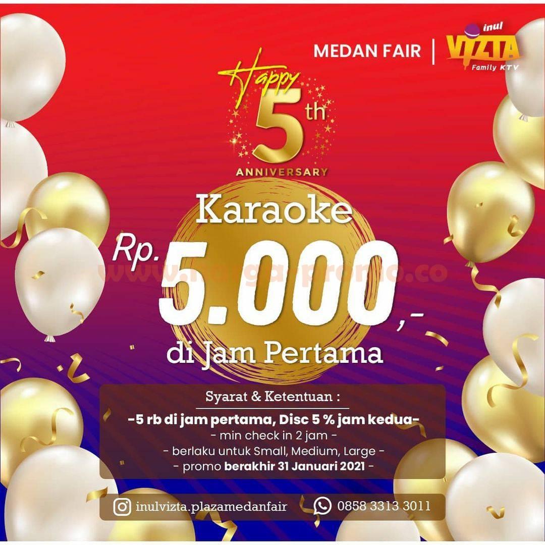 INUL VIZTA Plaza Medan Fair Promo Karaoke Rp 5.000 di jam Pertama