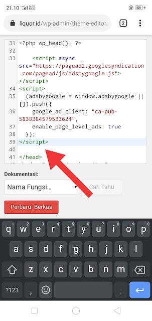 Pasang Kode Adsense di Wordpress