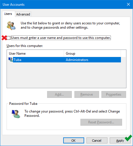 How to bypass login screen and log in automatically in windows 10 - www.ceofix.net
