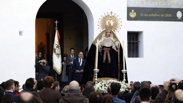 La Virgen de la Paz y Esperanza de Córdoba saldrá a Capuchinos el próximo 18 de octubre