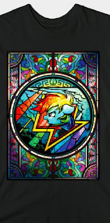 Stained Glass Pony Shirt Rainbow Dash
